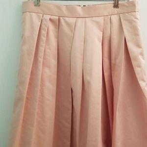 Banana Republic pink midi skirt